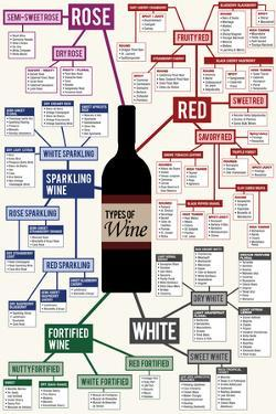 Types of Wine Chart Plastic Sign