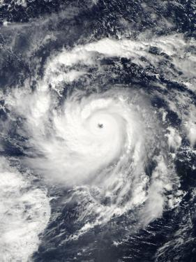 Typhoon Nida in the Pacific Ocean
