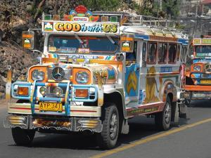 Typical Painted Jeepney (Local Bus), Baguio, Cordillera, Luzon, Philippines, Southeast Asia, Asia