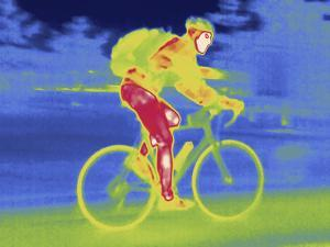 A Thermal Image of Bicycle Rider by Tyrone Turner