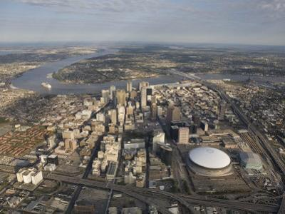 Aerial of New Orleans Looking East