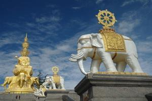 Buddha Statue at the Top of Emei Shan Mountain by Tyrone Turner