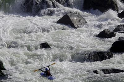 Kayak Surfing in Whitewater on the Potomac River