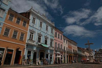San Francisco Catholic Church and Multicolored House in Salvador, Bahia
