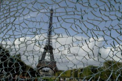 Shattered Glass with View of the Eiffel Tower in the Background