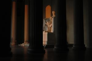 Sunrise at the Lincoln Memorial by Tyrone Turner