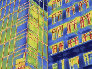 Thermal Image of Buildings in Washington D.C by Tyrone Turner