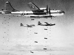 U.S. Airforce B-29 Superfortresses Drop Bombs on North Korea, 1951