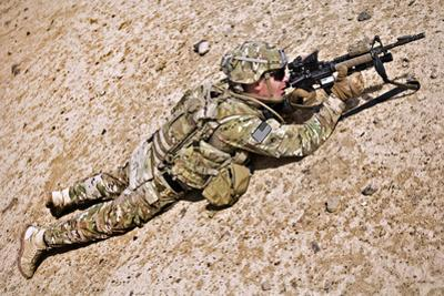U.S. Army Soldier Provides Security in Afghanistan