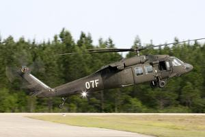 U.S. Army Uh-60L Blackhawk Helicopter Landing at Florida Airport