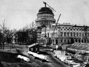U. S. Capitol Under Construction