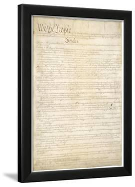 U.S. Constitution (First Page) Art Poster Print