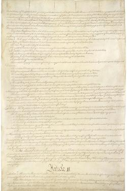 U.S. Constitution Page 2 Art Poster Print