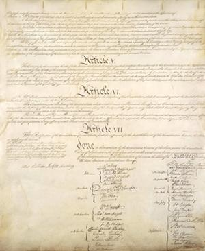 U.S. Constitution Page 4 Art Poster Print