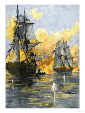 U.S. Fleet of Oliver H. Perry during His Naval Victory over the British on Lake Erie in 1813