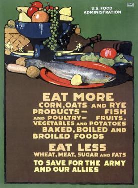U.S. Food Administration, Ration Diet