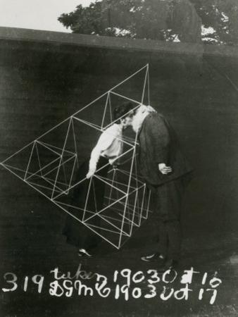 Alexander Graham Bell and Mabel Kissing Within a Tetrahedral Kite
