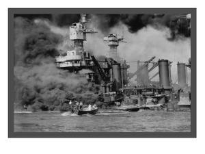 The Uss West Virginia at Pearl Harbor by U.S. Gov'T Navy
