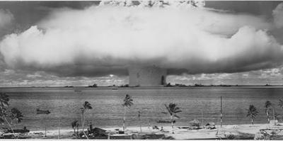 Underwater Atomic Bomb Test at Bikini Atoll in 1946