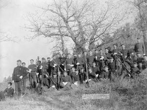 U.S. Infantry Resting Near Fort Meade