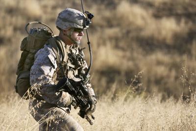U.S. Marine Patrols across the Hills of Range 800
