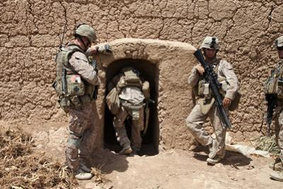 U.S. Marines Search a Compound in Afghanistan