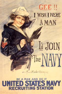 U.S. Navy I'd Join the Navy WWII Propaganda Vintage