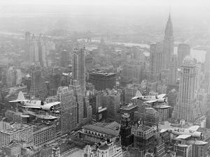 U.S. Navy Observation Planes Fly Over New York City