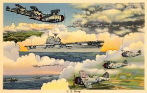 U.S. Navy Planes and Aircraft Carrier