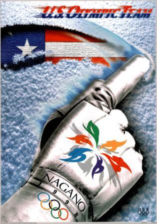 U.S. Olympic Team Nagano Japan, c.1998 Glove