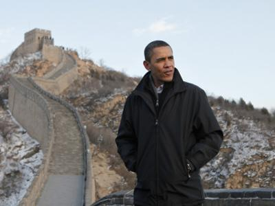 U.S. President Barack Obama Tours the Great Wall in Badaling, China