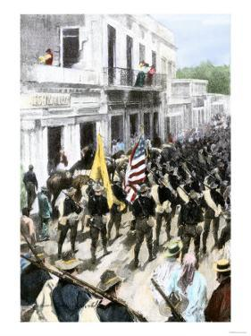 U.S. Troops Entering Ponce, Puerto Rico, During the Spanish-American War, c.1898