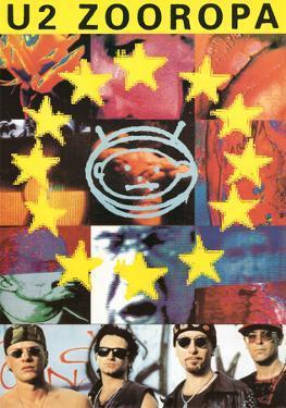 U2 Zooropa Music Poster Print