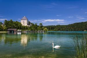 Austria, Salzburg Country, Salzkammergut, Fuschl Am See, Lake Fuschlsee, Castle Fuschl by Udo Siebig