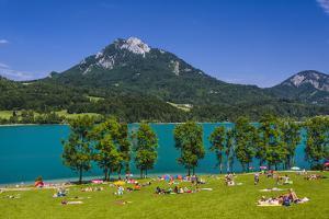 Austria, Salzburg Country, Salzkammergut, Fuschl Am See, Lake Fuschlsee by Udo Siebig