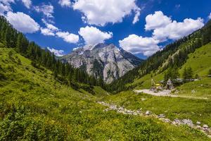 Austria, Tyrol, Karwendel Mountains, Alpenpark Karwendel, Alpine Village 'Eng' by Udo Siebig