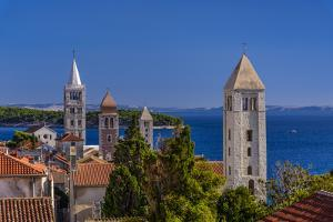 Croatia, Rab Rab TownView from City Wall by Udo Siebig