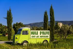 France, Provence, Vaucluse, Coustellet, Olive Mill, Pickup Van Citroen Type H, Advertising Vehicle by Udo Siebig