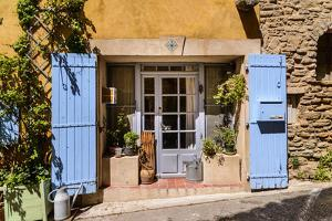 France, Provence, Vaucluse, Goult, House Facade, Door by Udo Siebig
