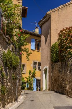 France, Provence, Vaucluse, Goult, Old Town Alley, Overgrown Facade by Udo Siebig
