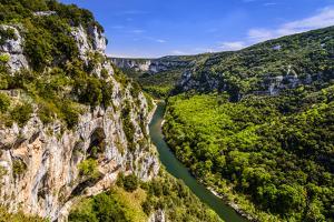 France, Rh?ne-Alpes, Ard?che, Vallon-Pont-D'Arc, Gorges De L'Ard?che, Belv?d?re De La Cath?drale by Udo Siebig