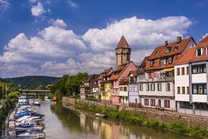 Germany, Baden-WŸrttemberg, Main-Tauber-Region, Wertheim, Tauberufer by Udo Siebig