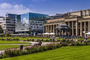 Germany, Baden-Wurttemberg, Schlossplatz (Castle Square) with Kšnigstrasse by Udo Siebig