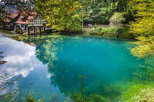 Germany, Baden-Wurttemberg, Swabian Alp, Blautal (Blau Valley), Blaubeuren by Udo Siebig