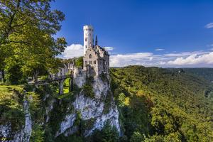 Germany, Baden-Wurttemberg, Swabian Alp, Reutlinger Alp, Echaztal by Udo Siebig