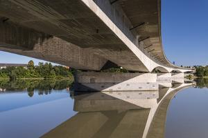 Germany, Bavaria, Lower Bavaria, Inn, Pocking, A3 / E56 Inn-Highway Bridge by Udo Siebig