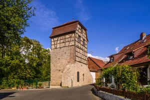 Germany, Bavaria, Lower Franconia, 'FrŠnkisches Saaletal' (Saale Valley), Hammelburg, 'HŸterturm' by Udo Siebig