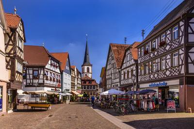 Germany, Bavaria, Lower Franconia, Main-Franconia, Lohr (River) Am Main