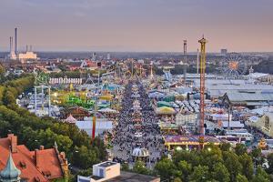 Germany, Bavaria, Munich, Theresienwiese Oktoberfest, View of St. Paul's Church by Udo Siebig