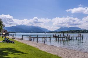 Germany, Bavaria, Upper Bavaria, Chiemgau, Breitbrunn Am Chiemsee (Lake by Udo Siebig